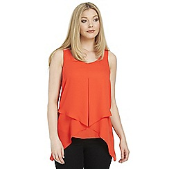 Roman Originals - Dark orange asymmetric hem sleeveless top