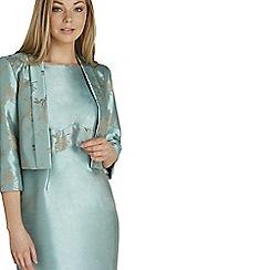 Roman Originals - Aqua contrast jacquard jacket