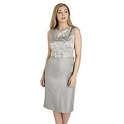 Roman Originals - Brown jacquard shift dress