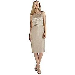 Roman Originals - Beige jacquard shift dress