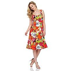 Roman Originals - Multicoloured floral multi panel dress