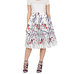 Tenki - White butterfly print skirt