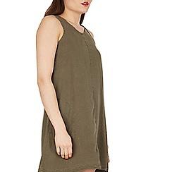 Apricot - Khaki sleeveless swing dress