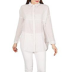 Apricot - Off white stripy panelled shirt