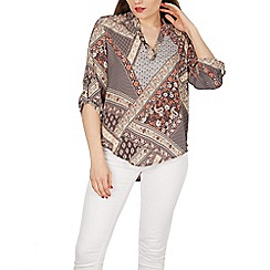 Apricot - Multicoloured patchwork print shirt