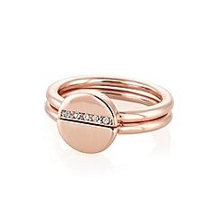 Buckley London - Rose bexley stacker rings