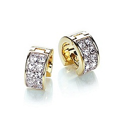 Buckley London - Gold chunky huggie earring 2 tone