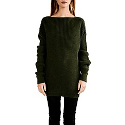 Alice & You - Khaki knitted backless jumper