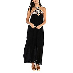 Alice & You - Black embroidered maxi dress