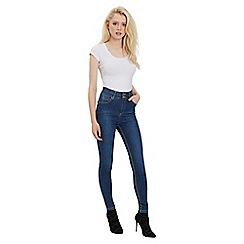 Jane Norman - Blue mid wash high waist jeans