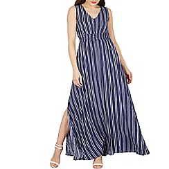 Blue Vanilla - Blue stripe button maxi dress