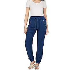 Blue Vanilla - Blue chambray zip pocket joggers