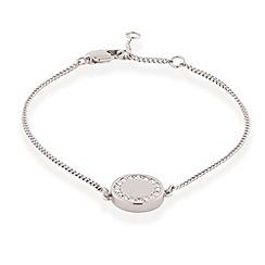 Buckley London - Silver rhodium shoreditch button bracelet
