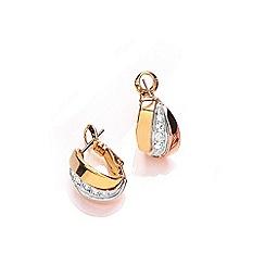 Buckley London - Gold Russian sparkle huggie earring