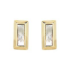 Buckley London - Gold lambeth rectangle earrings
