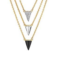 Buckley London - Gold Brixton three tier pendant