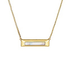 Buckley London - Gold lambeth bar pendant
