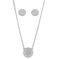 Buckley London - Silver rhodium shoreditch button set