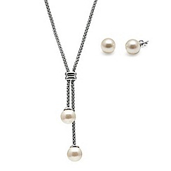 Kyoto Pearl - White freshwater pearls set