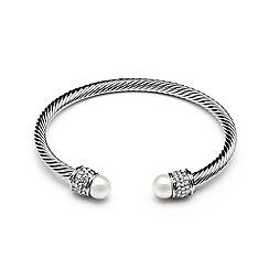 Kyoto Pearl - Silver swarovski pearl bracelet