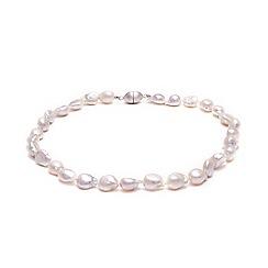Kyoto Pearl - White biwa river pearls necklace