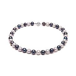 Kyoto Pearl - Black genuine freshwater pearls necklace