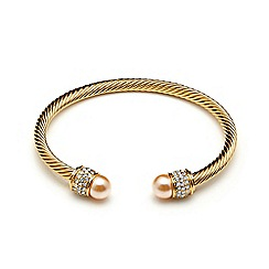 Kyoto Pearl - Gold swarovski pearl bracelet