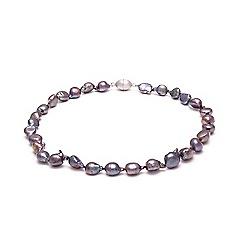 Kyoto Pearl - Purple biwa river pearls necklace
