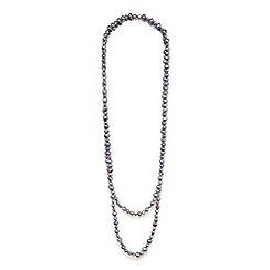 Kyoto Pearl - Grey baroque pearls necklace