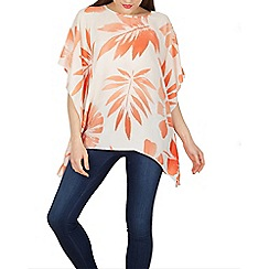 Apricot - Cream palm print kaftan