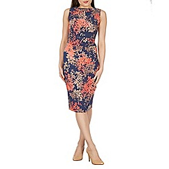 Apricot - Navy floral print bodycon dress