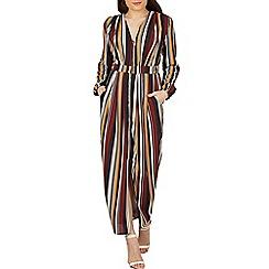 Izabel London - Navy stripe print bodycon dress