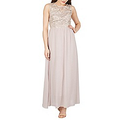 Solo - Tan maxi prom dress