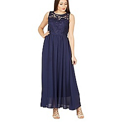 Solo - Navy maxi prom dress