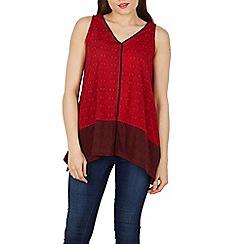 Stella Morgan - Red v neck aztec print top