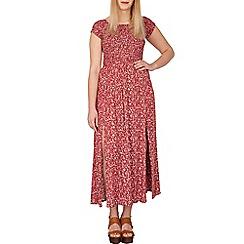Samya - Red floral print bardot maxi dress