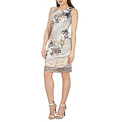 Izabel London - Grey abstract print bodycon dress
