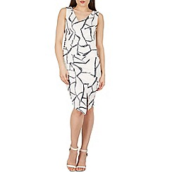 Izabel London - White abstract print bodycon dress
