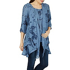 Izabel London - Blue tie up tunic top