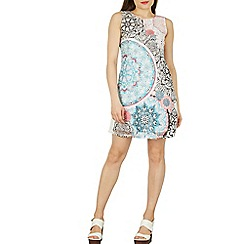 Izabel London - Multicoloured mandala print shift dress