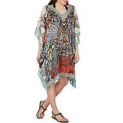 Izabel London - Multicoloured optical print kaftan dress