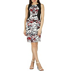 Izabel London - Multicoloured sleeveless round neck printed dress