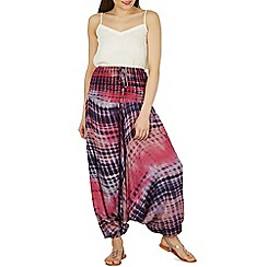 Izabel London - Multicoloured dye print harem pants