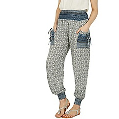 Izabel London - Navy printed joggers pants