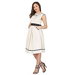 Lindy Bop - Cream Bethany swing dress