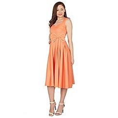 Lindy Bop - Peach grace swing dress