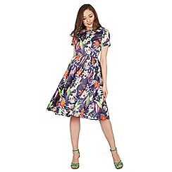Lindy Bop - Multicoloured elodie floral swing dress