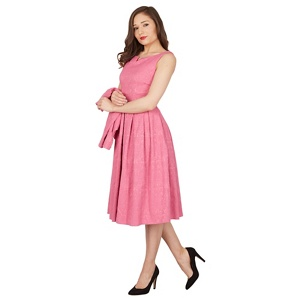Lindy Bop Bright pink Marianne twin set