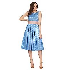 Lindy Bop - Blue Lana dream polka swing dress
