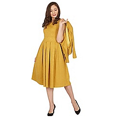 Lindy Bop - Mustard Marianne twin set